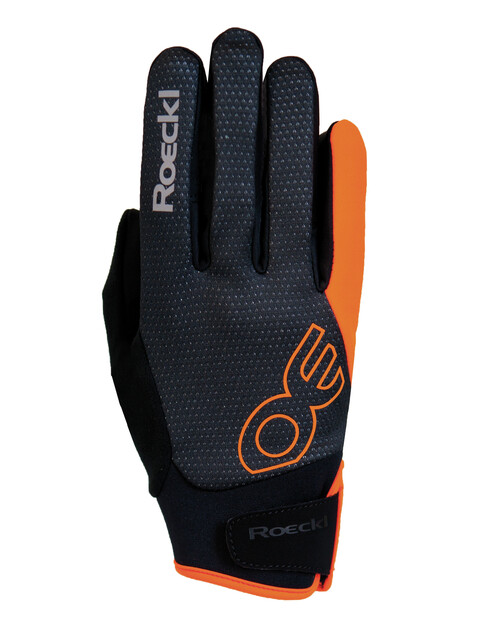 Roeckl Riga Handschuhe schwarz/orange